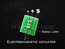 Electromagnetic rudder Electromagnetic actuator Conversion board