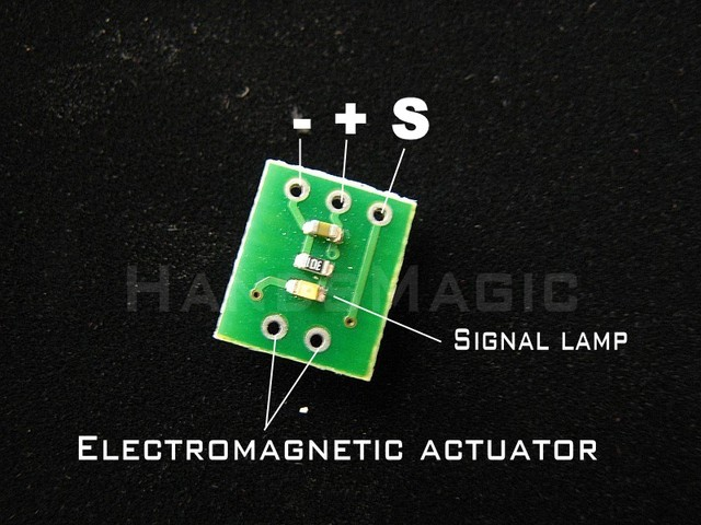 Electromagnetic rudder Electromagnetic actuator Conversion board