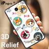 ipngve 3D Relief Printing Soft TPU+PC Hard Back Cover Case For Xiaomi Redmi Note 3 / Note 3 Pro With Ring Holder Phone Bag Coque