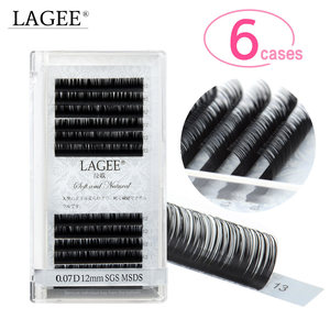 Image 1 - LAGEE 6 cases Super soft mink eyelash extensions individual eyelashes natural eyelashes classic all size J B C D CC Curl