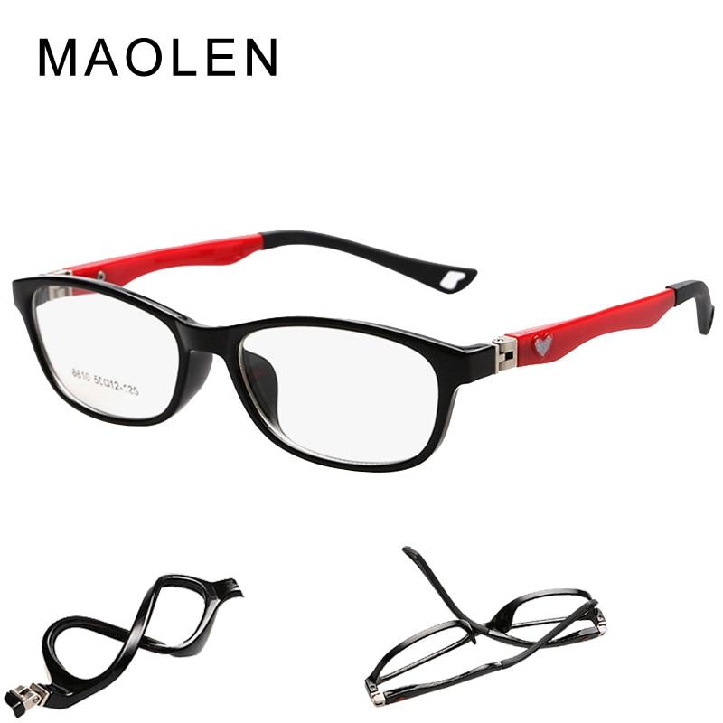 2018MAOLEN Brand Newydd Plant Gwydrau Optegol Fframiau Bechgyn Merched Fframiau Eyeglass Gwydrau Darllen Hen Lens Myopic FrameJR-8810