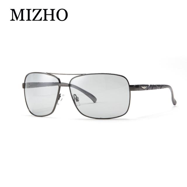 MIZHO Regalos de Día y Noche de Alta Calidad UV400 gafas de Sol de Conducción Hombres De Aluminio Y Magnesio Polarizadas Fotocromáticas VIDRIOS Metálicos Nieve