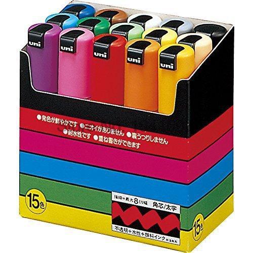 One Piece Uni Posca PC-8K Paint Marker Pen- Broad Tip-8mm 15colors available 8k жемчужно синий