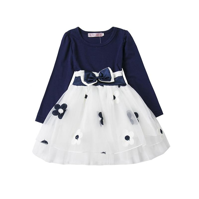 981e110bcb89f Robe Enfant fille Robe enfants vêtements 2018 marque automne princesse Robe  bébé fleur filles robes enfants