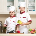 Fashion short sleeve cotton colorfast and shrink resistant white jacket uniform for chef cook baker