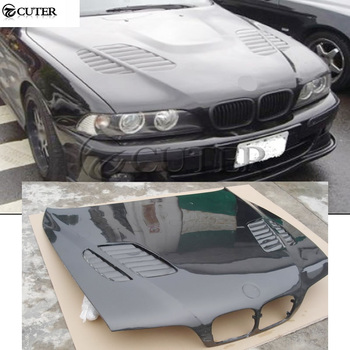 E39 5 series Carbon Fiber Front engine Hood Bonnets engine Covers with vents for BMW E39 525i 95-03
