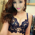 Fashion Delicate Embroidery Lace Bra Sets B Cup Adjustable Push Up Bra With Panty Women Intimates