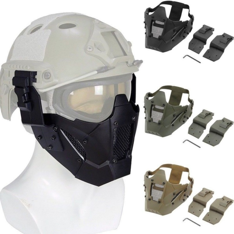 Men's Outdoor Half Mask TPE Steel Breathable Removable Recyclable Mask Tactical Mask MA-95 Tactical Iron Warrior Mask