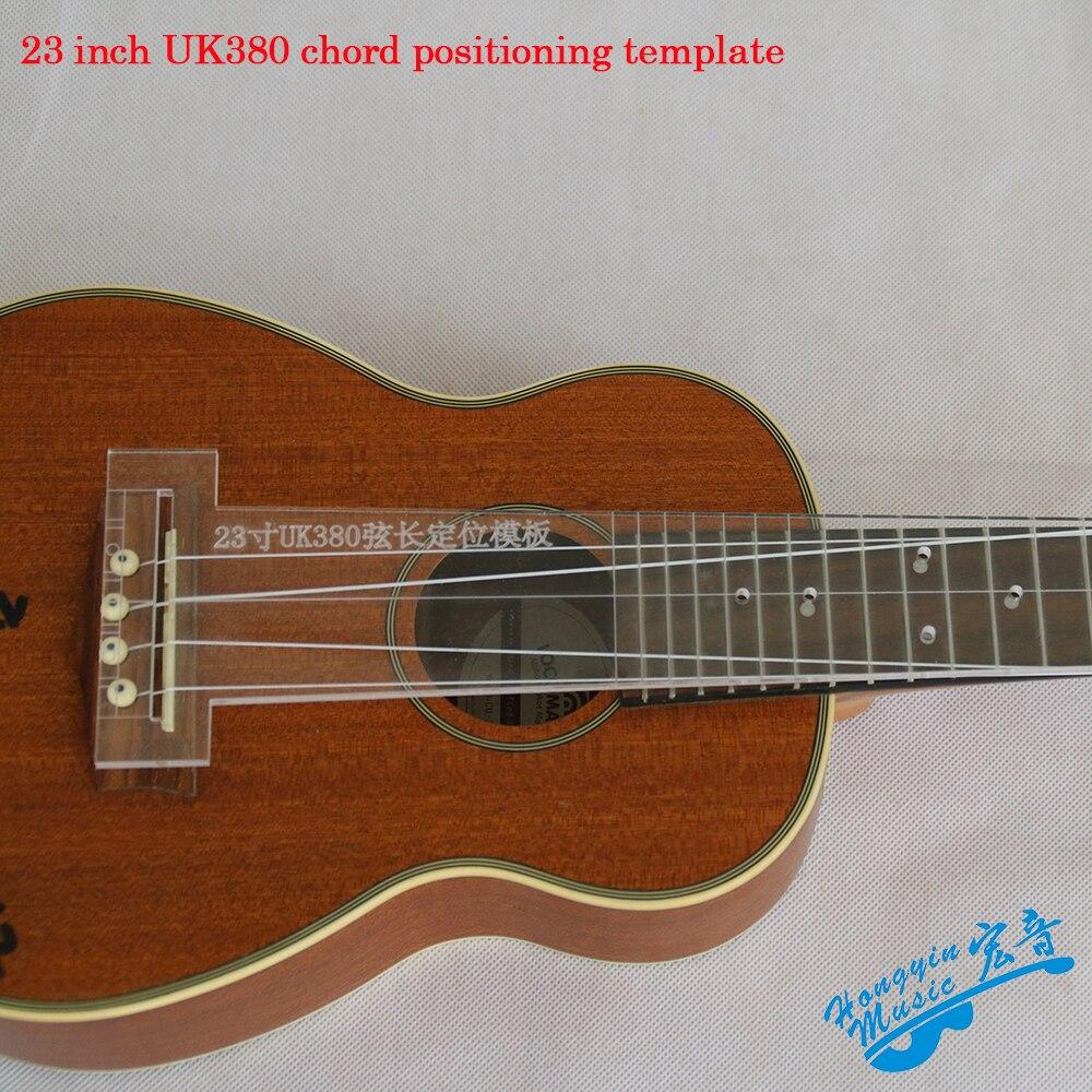 Ukulele Guitar Fingerboard, Fret, Bridge, Point Of Articulation Positioning Transparent Acrylic Template Guitar Making Molds(China)