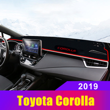 For Toyota Corolla 2019 LHD Car Dashboard Covers Dash Mat Sun Shade Pad Instrument Panel Carpets Trim Anti-UV Summer Accessories