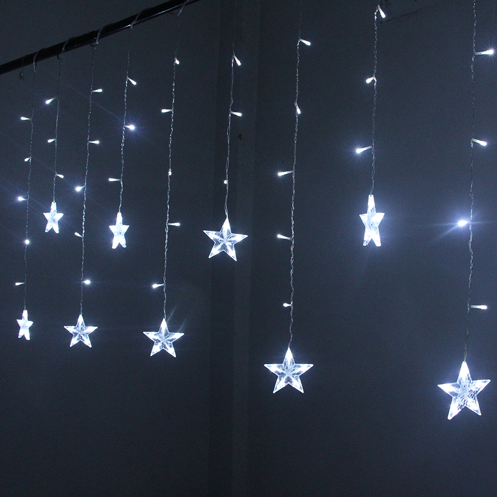 Image 5 - 2M Star Fairy Lights Christmas Star String Lights Garland Led Curtain Wedding/Home/Party/Garden/Birthday Decoration Lighting-in LED String from Lights & Lighting on