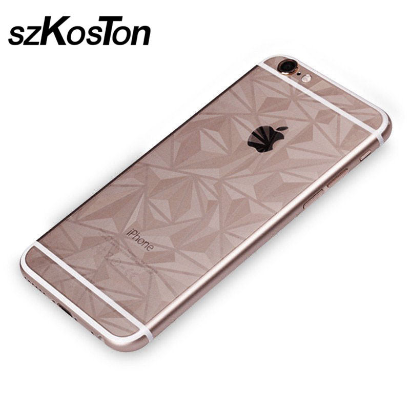 3D Carbon Fiber Soft Film For Apple iPhone X Clear Scratch-protection Phone