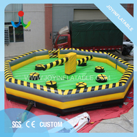 Diameter 8M Pvc Tarpaulin Inflatable Sport Game Product, Inflatable Meltdown, Wipeout Obstacle Course