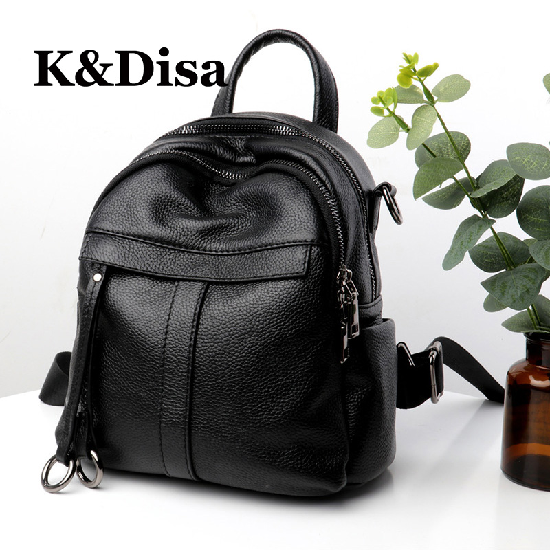 High Quality Women Designed Backpacks 2018 New Fashion Softback Bag For Girls Genuine Leather Solid Casual Female Backpack цена