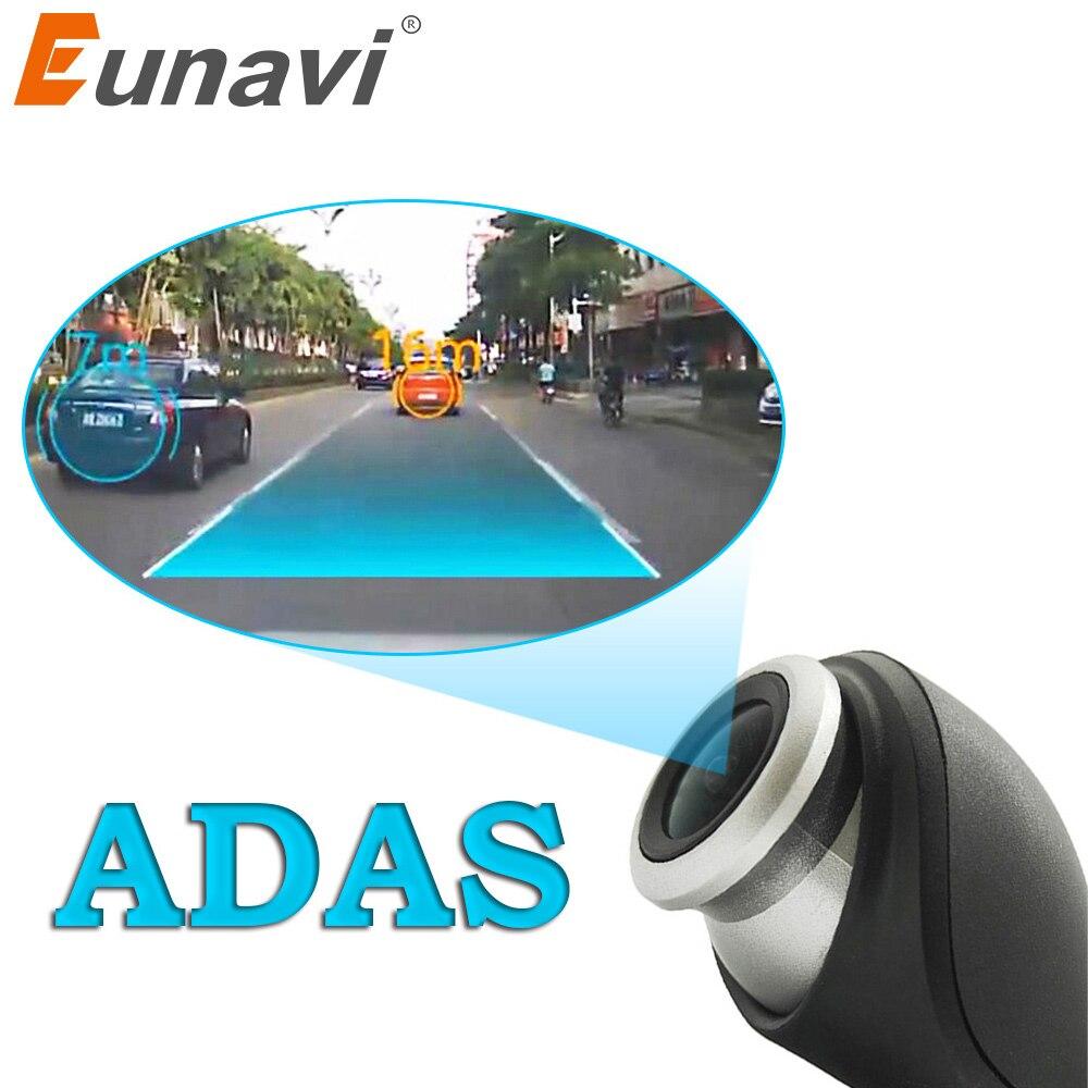 Eunavi Car DVR cámara USB connector vehículo HD 1280 P 720 DVRs para Android sistema OS mini Car Driving Recorder cámara con ADAS