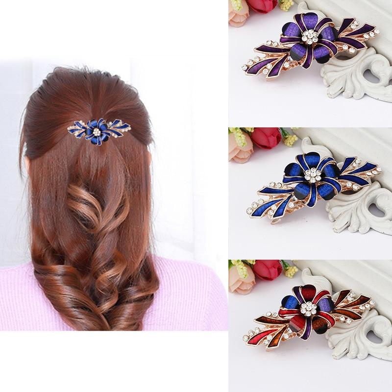2017 Fashion Korean Style Hair Clip Girls Crystal