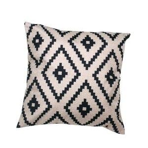 Image 1 - Funda de almohada con patrón geométrico moderno Simple 45cm * 45cm Lino nueva y de alta calidad funda de cojín hogar café decorativo