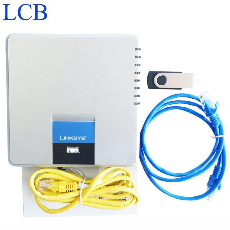Entsperrt Linksys SPA400 SIP IP PBX Internet 4 Ports FXO Voicemail Voip-telefon Adapter Telefon Telefone Server System Geben Schiff Frei