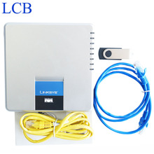 Разблокирована Linksys SPA400 Интернет 4 Порта FXO SIP IP-PBX Голосовой Почты VoIP Телефонный Адаптер телефон Telefone Server System Свободный Корабль