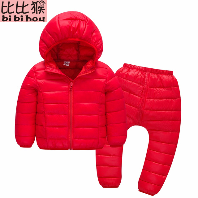 2017 kurtka zimowa dla dziewczyn zestaw Odzież dziecięcy