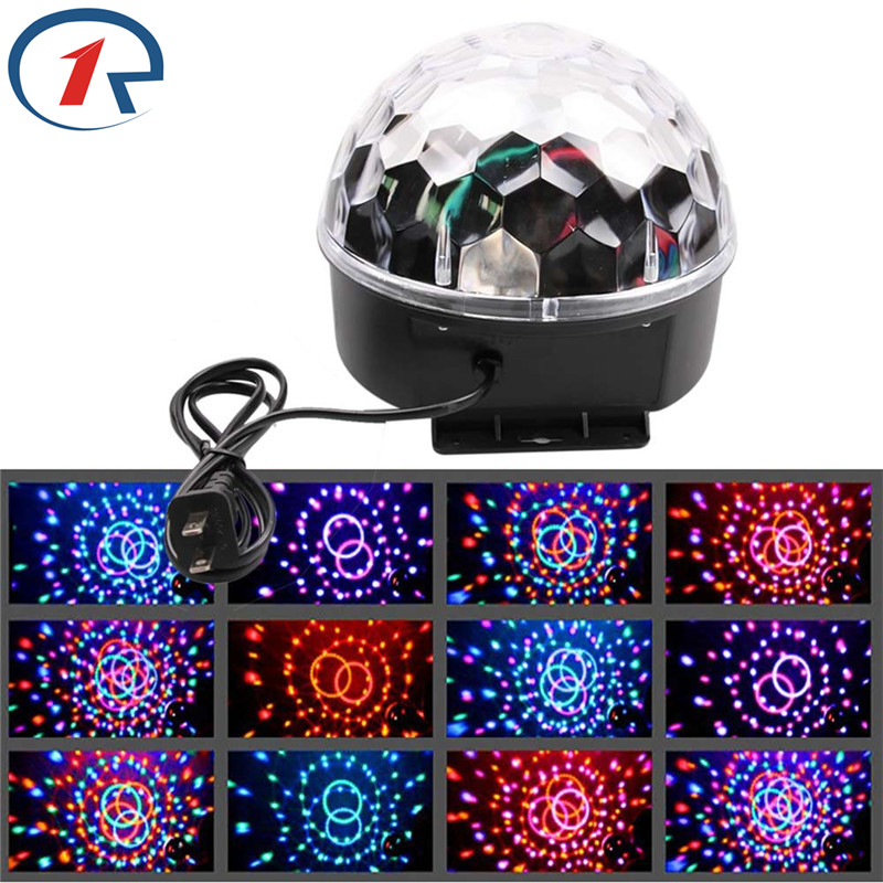 ZjRight RGB led Stage effect Lights Auto Sound Crystal Magic Ball Disco Lighting shower Projector party DJ club bar ktv elf Lamp lumiere rgb led stage effect lighting 30w auto sound magic ball disco lighting shower laser projector party dj club magic lamp