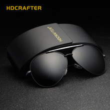HDCRAFTER Real Polarized Men Pilot Aviation Sunglasses Sports Glasses Retro Fashion Eyewear masculino unisex With Accessories