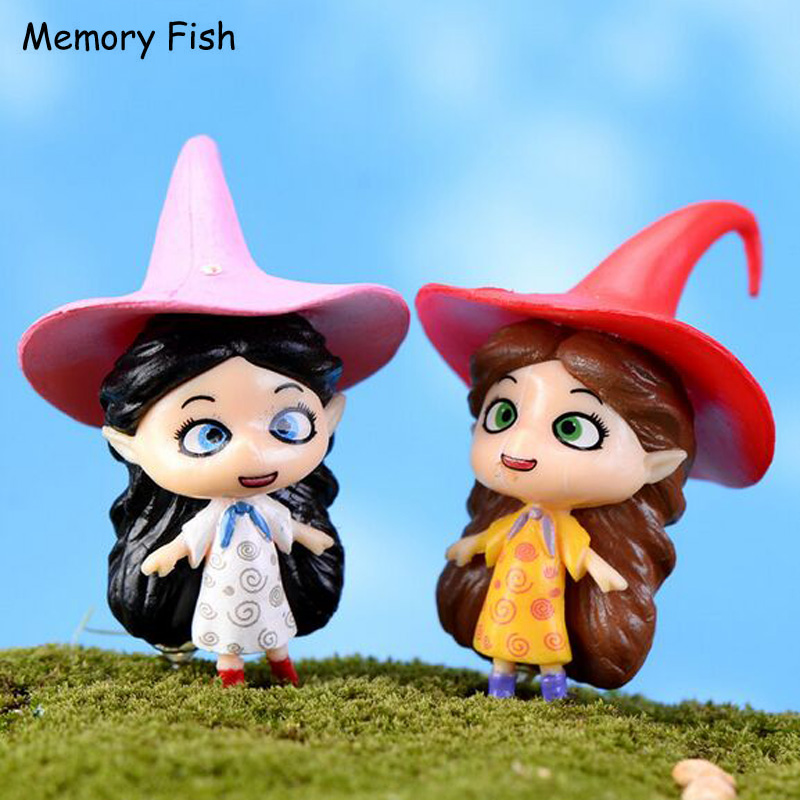 US $5 39 |Funny cute Magic witch dolls 3D model Action Figure Toys gifts  micro garden world decoration DIY Dollhouse ornaments accessories-in Action  &