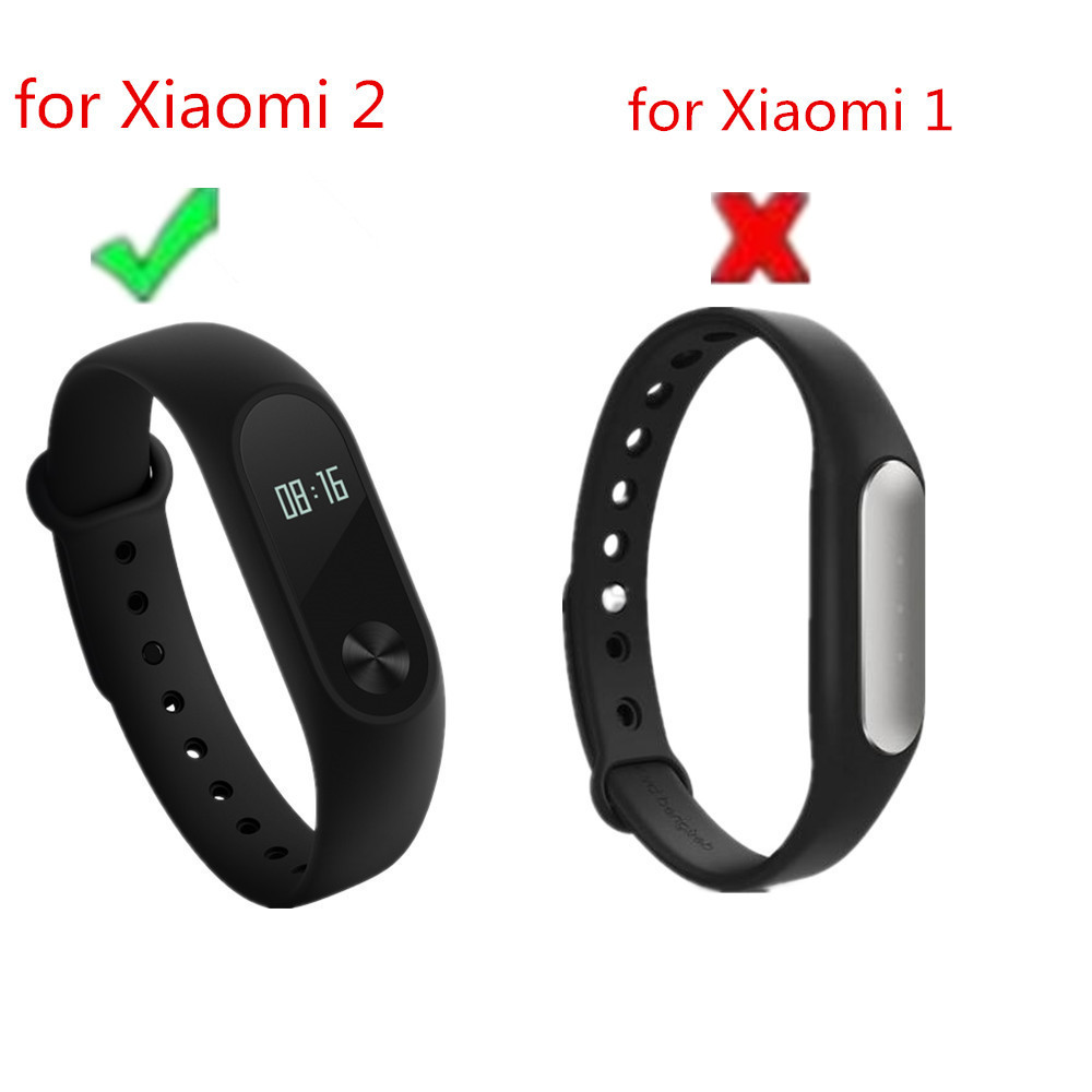 (XM2HS) SMP-0011 Replace Strap for Xiaomi Mi Band 2,Silicone Wristbands for Mi B