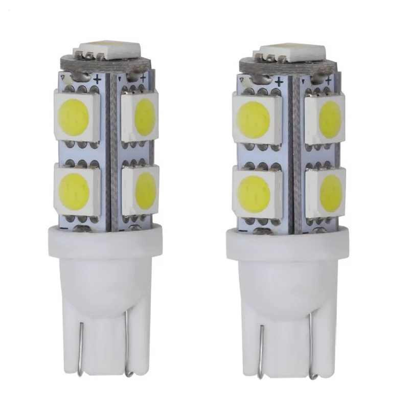 10 Uds T10 5050 LED 9 SMD W5W 194 led 168 8 1 5050, 6000k luz blanca de la luz de lámpara error de tamaño de luz de matrícula de coche
