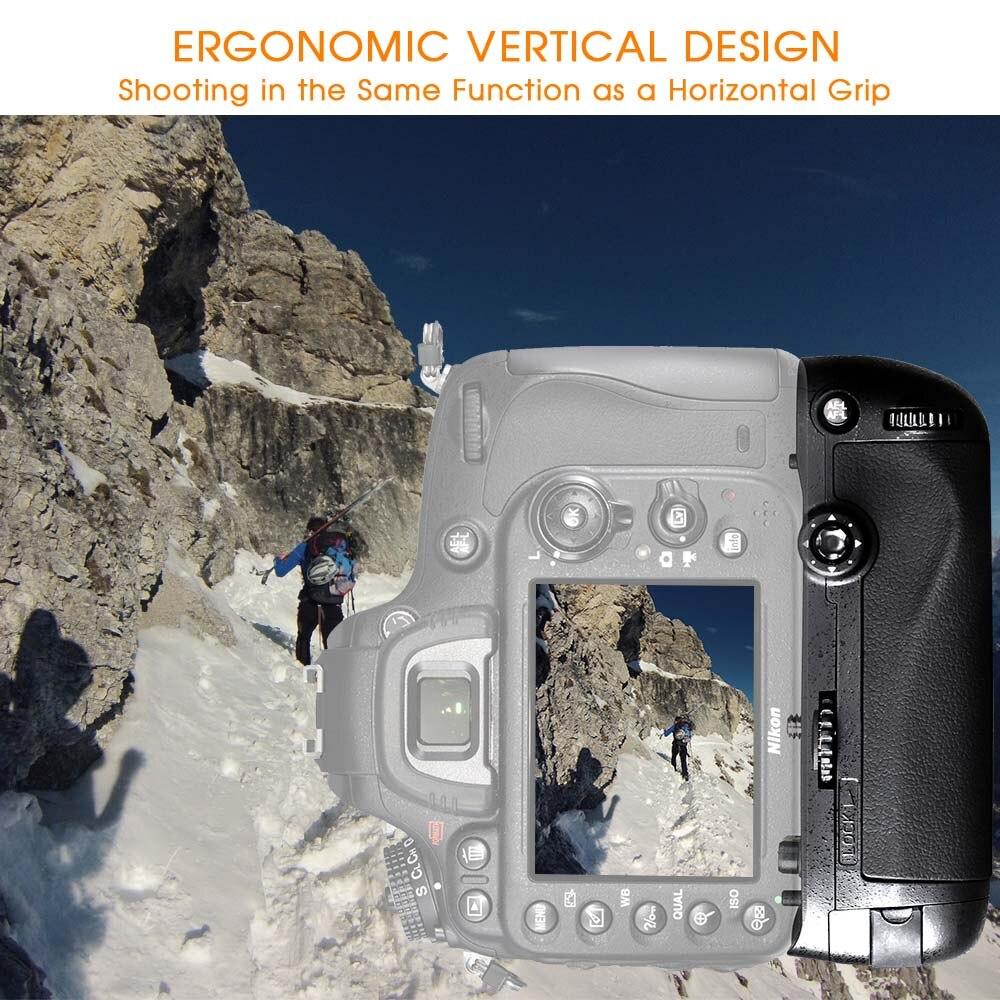 Travor verticale batterie support de prise en main pour Nikon D750 DSLR Caméra avec EN-EL15 batterie comme MB-D16 - 2