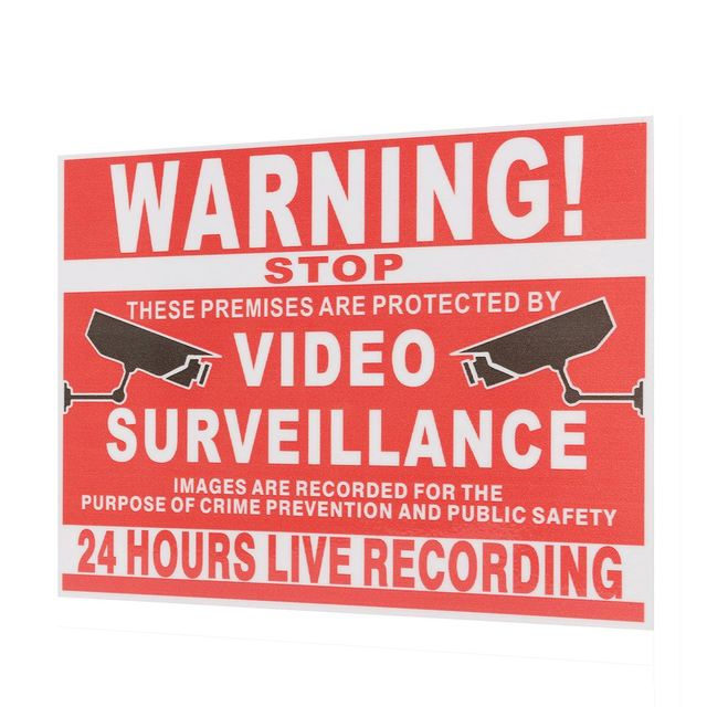 Premises Projected By Video Surveillance CCTV Recording Sign Safety Sticker