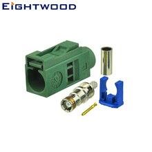Eightwood Автомобильная ТВ антенна Fakra E Jack Женский коаксиальный разъем зеленый/6002 обжимной RG316 RG174 LMR100 Кабельный адаптер для автомобильного ТВ 1