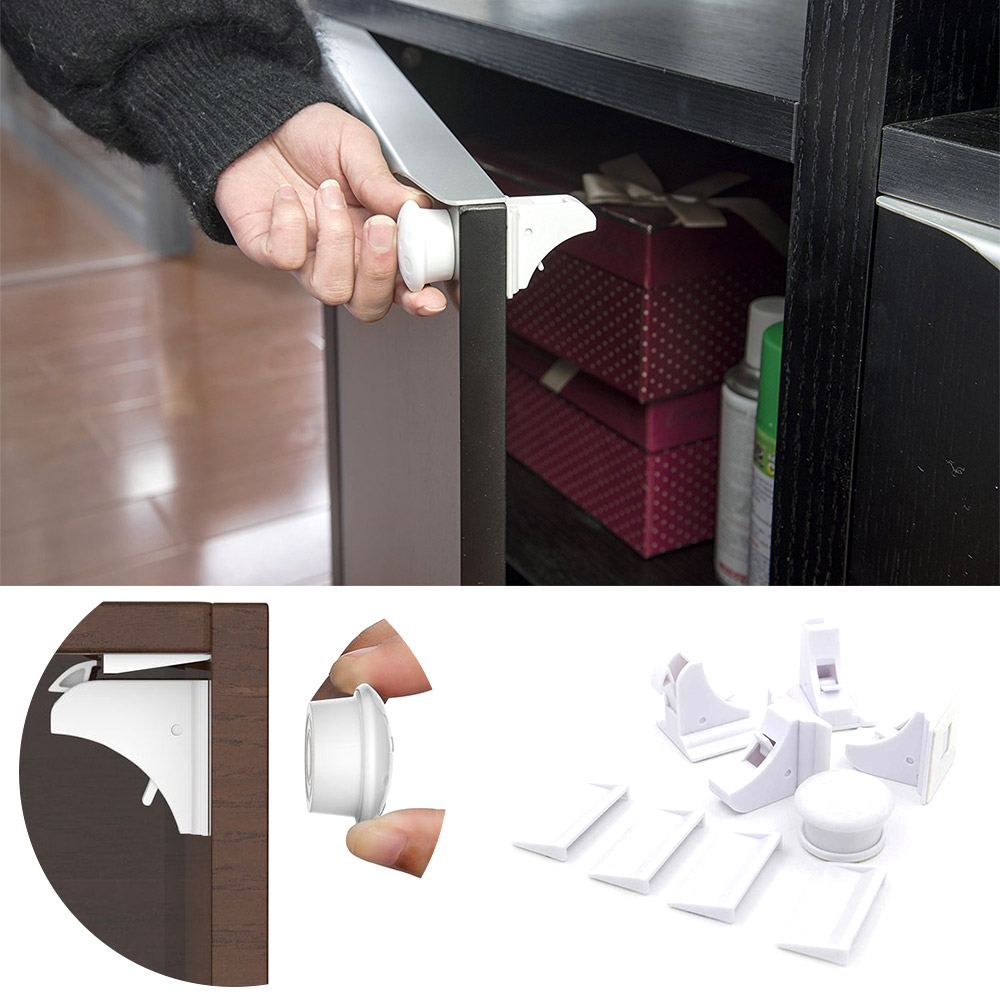 Magnetic Child Lock Baby Security Cabinet Locks Children Protection Childproof Invisible Drawer Latches Kids Safety Cupboard