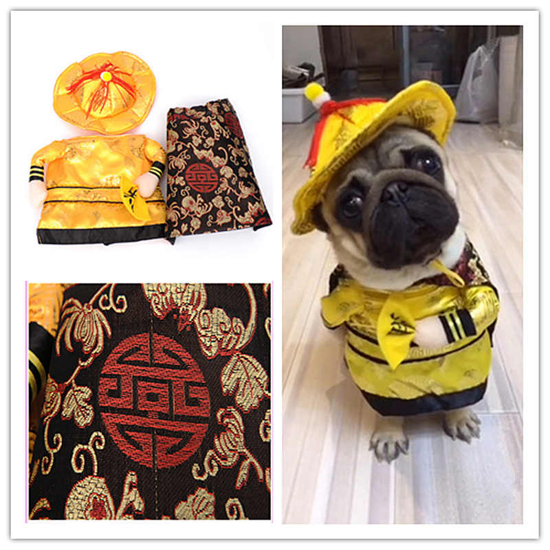Hot sale Cats outfit small Dog Puppy Cat Pet Costume Clothes Golden King Empire Cosplay Costumes Suit clothes Cat Dog supplies
