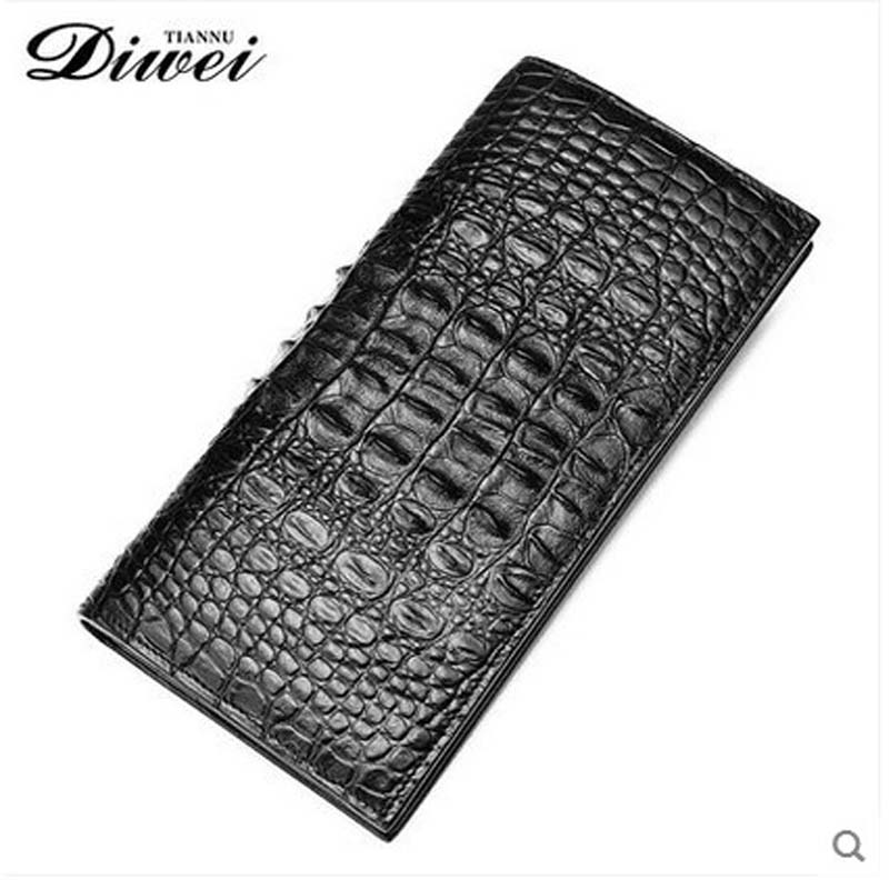 2018 Diwei  new hot freeshipping real crocodile long wallet man multi-card  business casual hand bag men Wallet tide yuanyu 2018 new hot free shipping crocodile skin new lady long purse wallet tide crocodile hand caught bag women wallet
