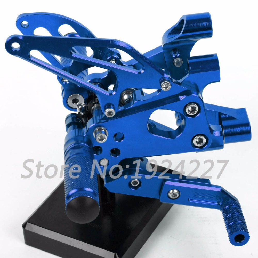 Motorcycle Footrest Adjustable Foot Pegs Rearsets For Ducati Panigale 1199 1199iS 1199R 2012-2013 Hot Motorcycle Foot Pegs Blue