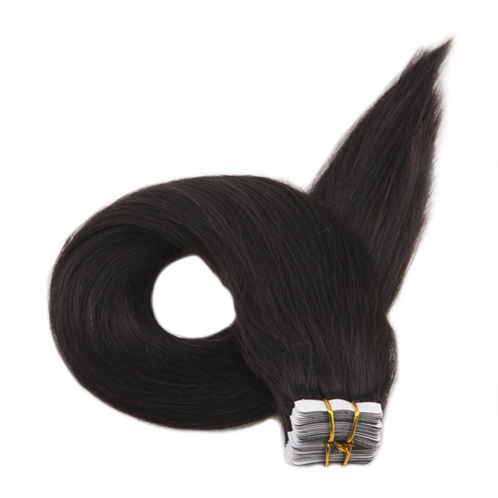 Full Shine Tape In Hair Extensions 20 Pcs 40g Skin Weft Colorful Hair Tape In De Cabelo Hair Non-Remy Hair Adhesive Tape Ins