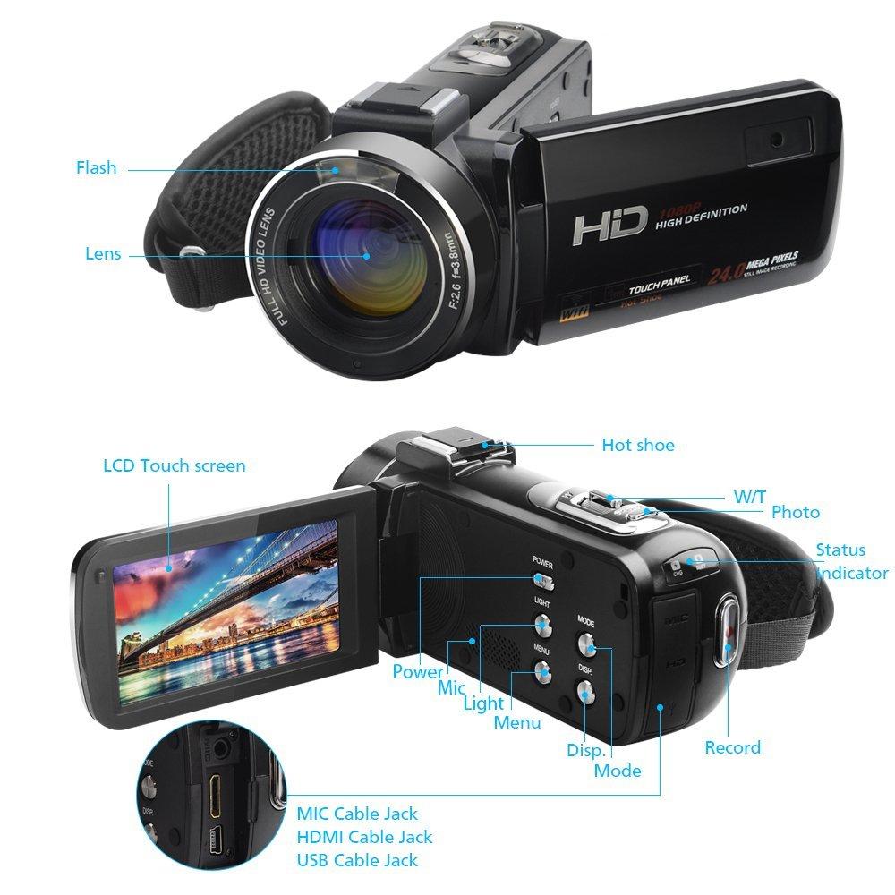 Neue Wifi Camcorder Full HD 1080 P 30FPS Tragbare Digitale ...