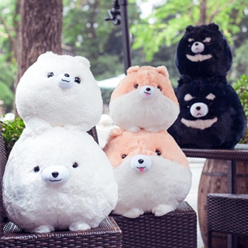 New Coming 30cm/45cm Simulation Stuffed Animal Cute Pomeranian Dogs Plush Toys Pomeranian Party Animal Dolls Kids Soft Gifts