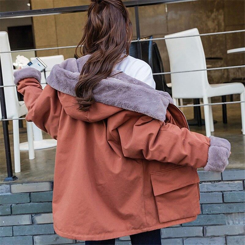 2019 Winter Parkas New Large Size Women Fashion Wild Cotton Jackets Plus Velvet Thick Warm Cotton Coats Female Outerwear TTT175