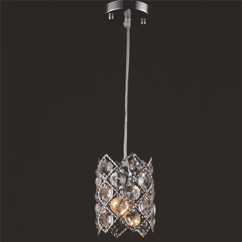 Modern simple LED  chandelier 3 single head creative bar counter dining room lights crystal restaurant light WPL282 цена