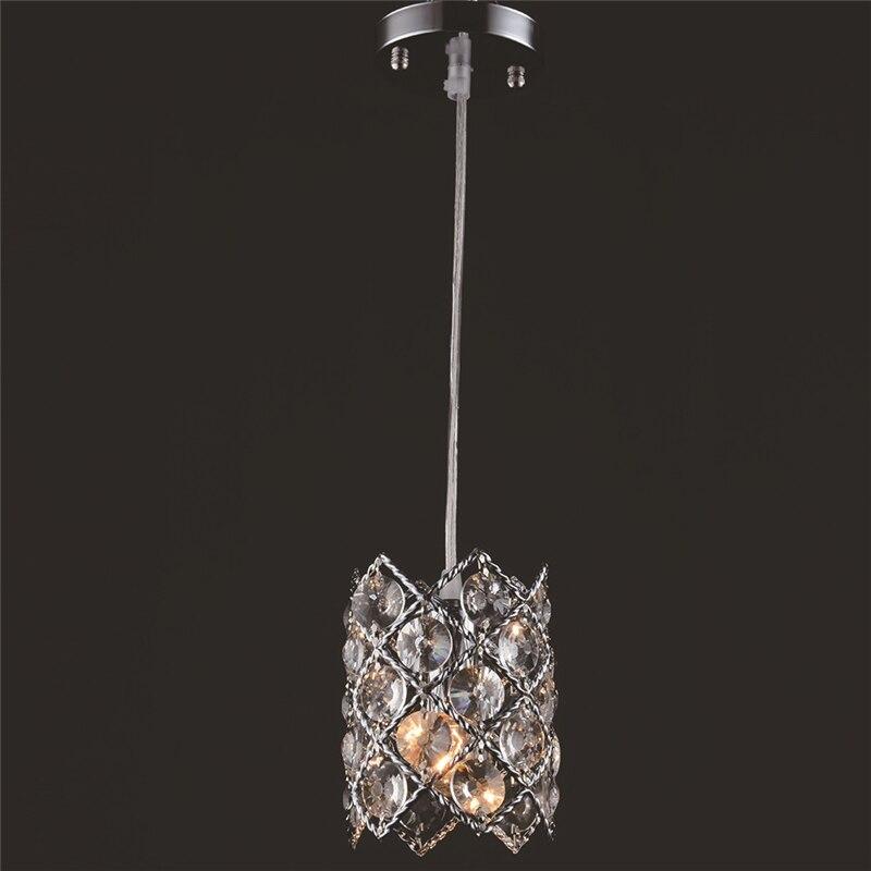 Modern simple LED chandelier 3 single head creative bar counter dining room lights crystal restaurant light WPL282