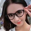2016 Del Nuevo Diseñador Del Ojo de Gato Gafas de Alta Calidad Marco de la Pierna Mujeres Gafas de Montura de gafas Gafas De Grau Anteojos Equipo Óptico 475