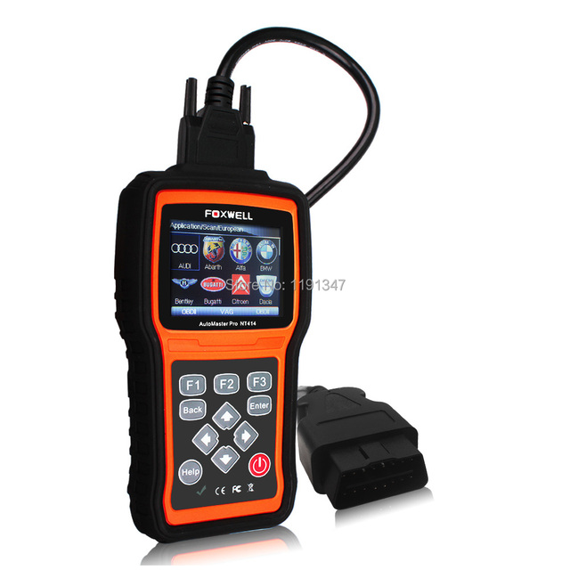 Foxwell NT414 All Brand Vehicle Four Systems Diagnostic Tool NT414 Scan Tool for American/Asian/European Vehicle Makes