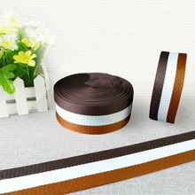 50mm 2 38mm ремень off white Coffee White Brown Striped polyester Webbing twill ribbon DIY sewing accessories bias tape