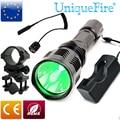 Uniquefire HS-802 CREE LED Фонарик Дальнего Зеленый Лазерный Фонарик Для Охоты + Артиллерийская установка + Плата + Крысиный Хвост Shoting Факел
