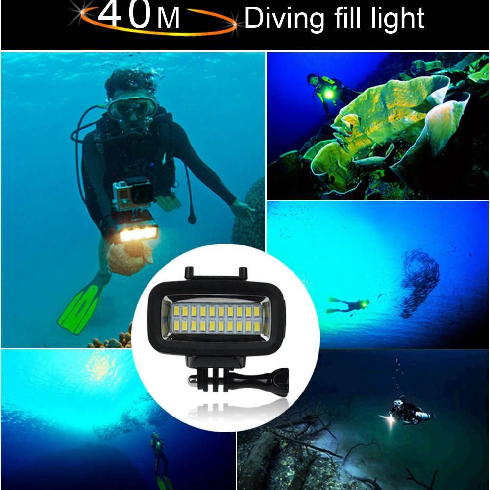 Image 5 - Orsda Gopro accessories LED 40m Underwater Waterproof Lamp gopro light led Video Flash Fill Light For SJCAM Xiaomi 700LM SL 100-in Sports Camcorder Cases from Consumer Electronics