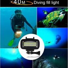 Подводные 40 M Водонепроницаемый высокое Мощность di m состоянии светодиодный видео POV флэш-наполнитель ночник для SJCAM SJ4000 SJ5000, Xiaomi, 700LM