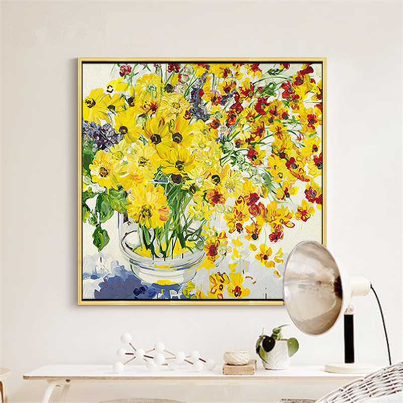 Hand Painted Oil Painting  Flower Canvas wall art canvas Pictures for living room home decor cuadros decoracion 1Hand Painted Oil Painting  Flower Canvas wall art canvas Pictures for living room home decor cuadros decoracion 1