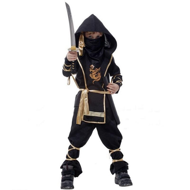 De înaltă calitate Halloween Frumos Black Dragon Ninja Warrior - Costume carnaval